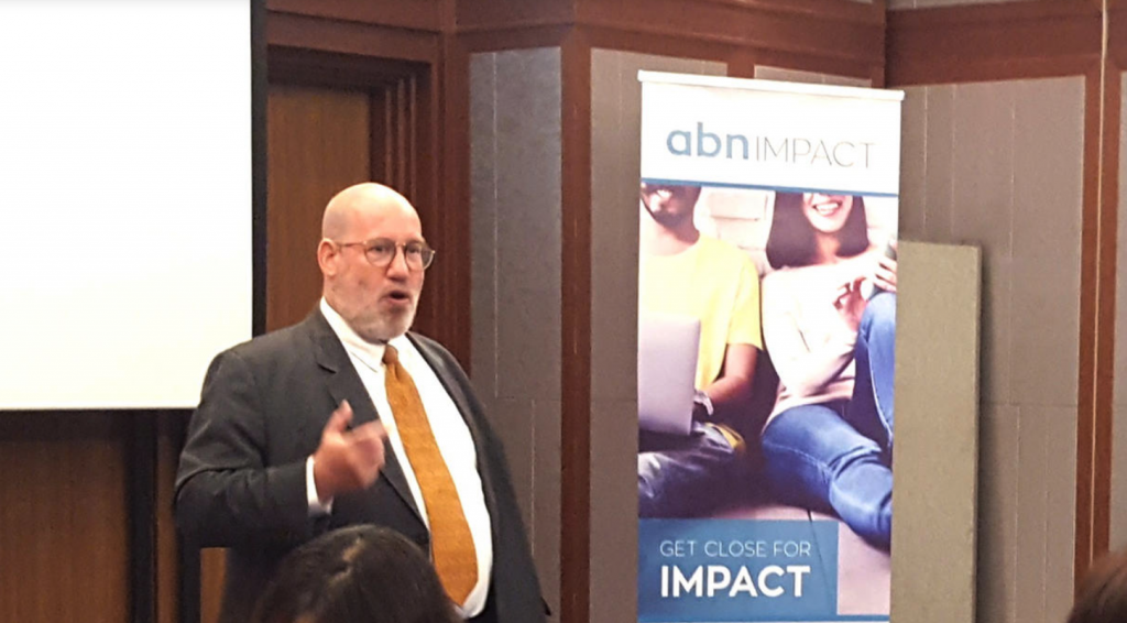 Mike at ABN Impact Breakfast21Aug2017