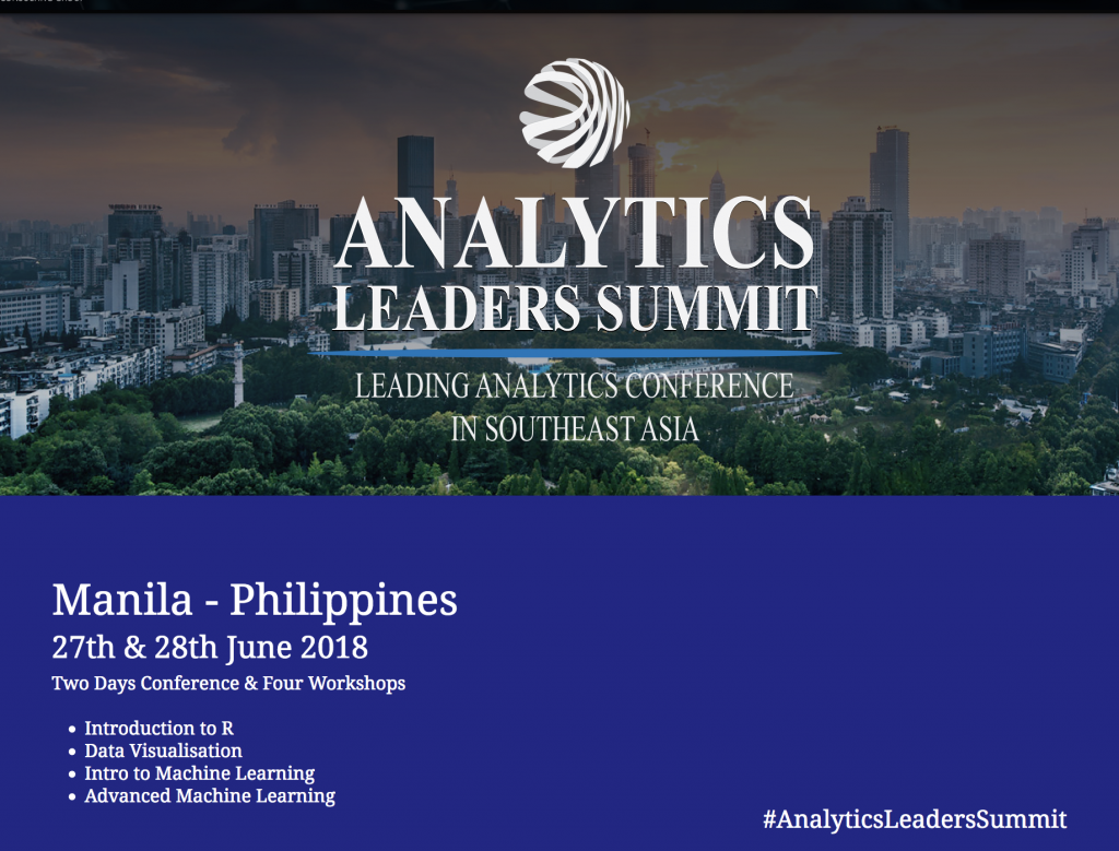 Analytics Leadership Summit - Manila - June 2018